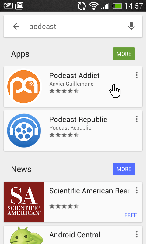 Podcast Android - Stap 1